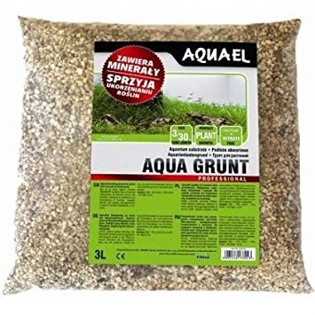 AquaEL Aqua Grunt - Sustrato mineral de base, fondo fértil para plantas de acuario de agua dulce, 3 L: Amazon.es: Hogar