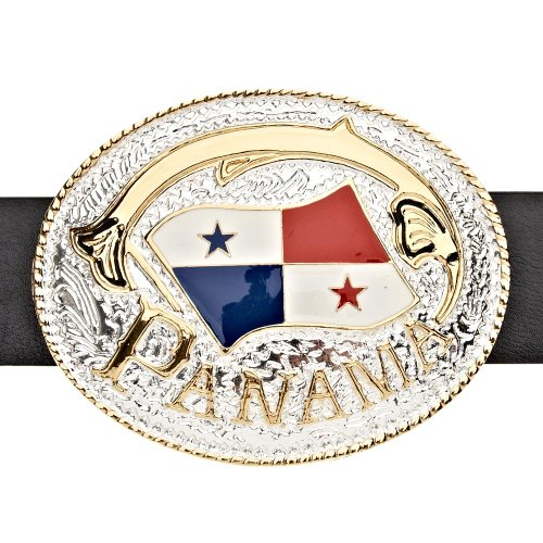 Iced Out Bling Ceinture - PANAMA DRAPEAU or / argent