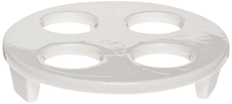 Case of 8 95mm OD 30mm Hole Diameter CoorsTek 60444 Porcelain Desiccator Plate for Crucibles with 3 Holes
