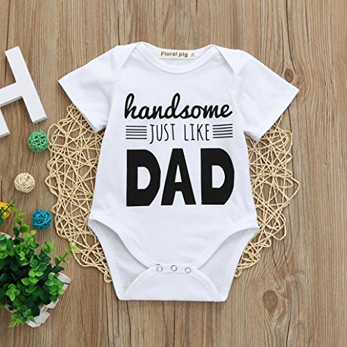 Jaylon Baby Climbing Clothes Romper Best Dad Infant Playsuit Bodysuit Creeper Onesies White