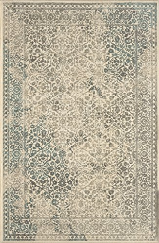 picture of Karastan Euphoria Collection Ayr Rectangle Area Rug, 8' x 11', Natural
