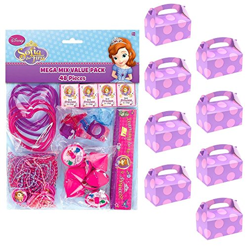 BirthdayExpress Sofia The First Party Supplies Filled Favor Box Kit (for 8 Guests) -