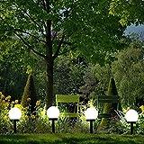 garden mile Solar Powered Ground Lights Super Bright Solar Globe Stake Outdoor Lighting Set Fence Illumination Light Lampost for Garden Yard Pathway Landscape Garden Lighting Decorations (4)