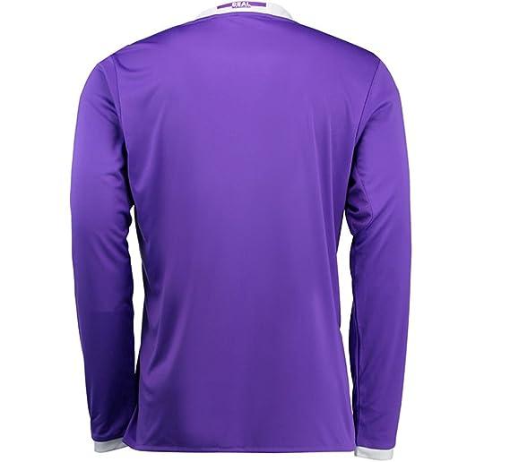 4f97b4d13e2 Amazon.com: adidas 2016-2017 Real Madrid Away Long Sleeve Shirt: Clothing