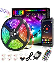 Led Strip Lights,JESLED 3M TV Led BackLights for 40-60in TV with IR Remote , Smart App Control, Music Sync Strip Lights for Computer, PC ,Laptop Bias Lighting, 16 Million Colors, USB Powered