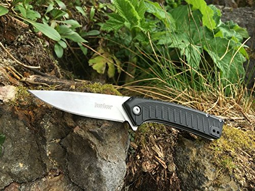 Entropy-Assisted-Black-GFN-W-G10-Handle-Stonewash-Self-Defense-Weapon-Ultimate-Survival-Tool-for-Zombie-Apocalypse-Survival-Kit-w-Free-5-in-1-Carabiner-Multitool-Credit-Card-Knife-Survival-Life