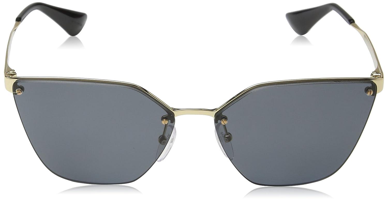 e501ad16c15d Amazon.com  Prada PR68TS 7OE5Z1 Antique Gold PR68TS Cats Eyes Sunglasses  Polarised Lens Cat  Prada  Clothing