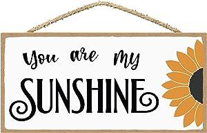 SARAH JOY'S You are My Sunshine Decor Sign - Inspirational Signs - Inspirational Quotes Wall Decor - Small Inspirational Signs - Positive Signs for Home Decor