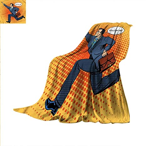 Amazoncom Comics Throw Blanket Bussiness Man With Quote Warm