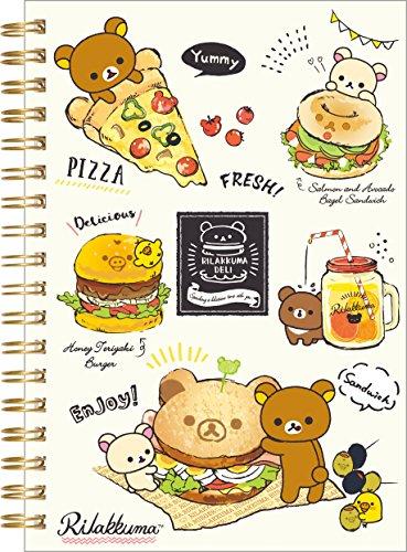 Rilakkuma, Korilakkuma Note Book (B6 Size) Deli NY16201 San-X (Rilakkuma School Supplies)