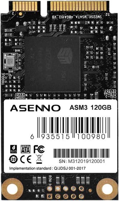 ASENNO SSD Unidad de estado sólido Msata 120 GB: Amazon.es ...
