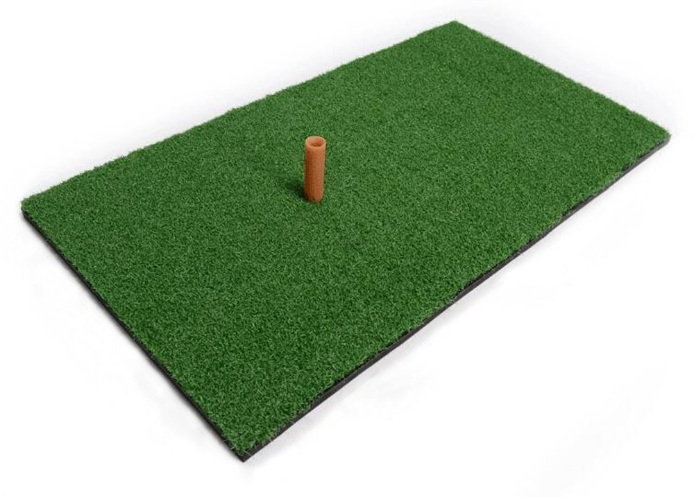 Faswin Green Golf Hitting Mat 12 x 24 inch Residential Practice Hitting Mat with Tee Holder