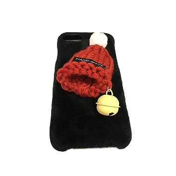 Funda iPhone 7,Aliyao Sombrero Peludo de Navidad Estuche ...