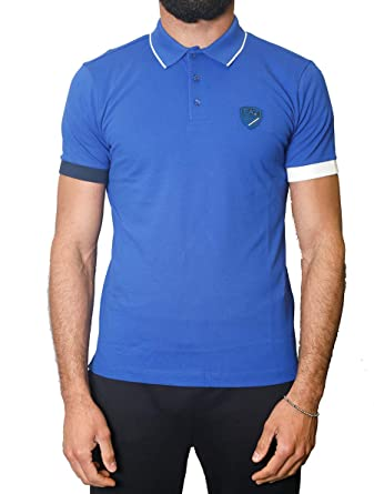 EA7 Polo M/C Uomo Mod. 3HPF18 PJ04Z 1582 Royal L: Amazon.es: Ropa ...