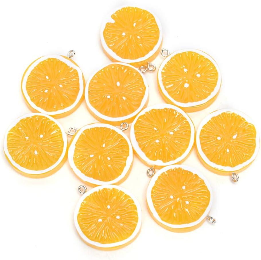 Orange fruit brooch resin orange charm brooch badge pin Roll safety catch lemon
