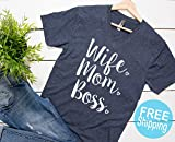 Wife Mom Boss shirt, Wife Shirt, Trendy shirts for mom, Gift for mom, Mothers day gift, Gift for wife