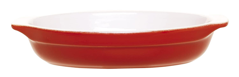 Emile Henry 8-1/2-Inch Oval Au Gratin Cerise Red 339009