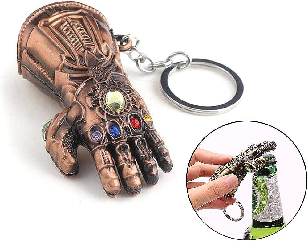 365Home Infinity Gauntlet Keychain Bottle Opener Thanos Glove Keychain Bottle Opener Thanos Beer Bottle Opener Keychain (Red Copper)