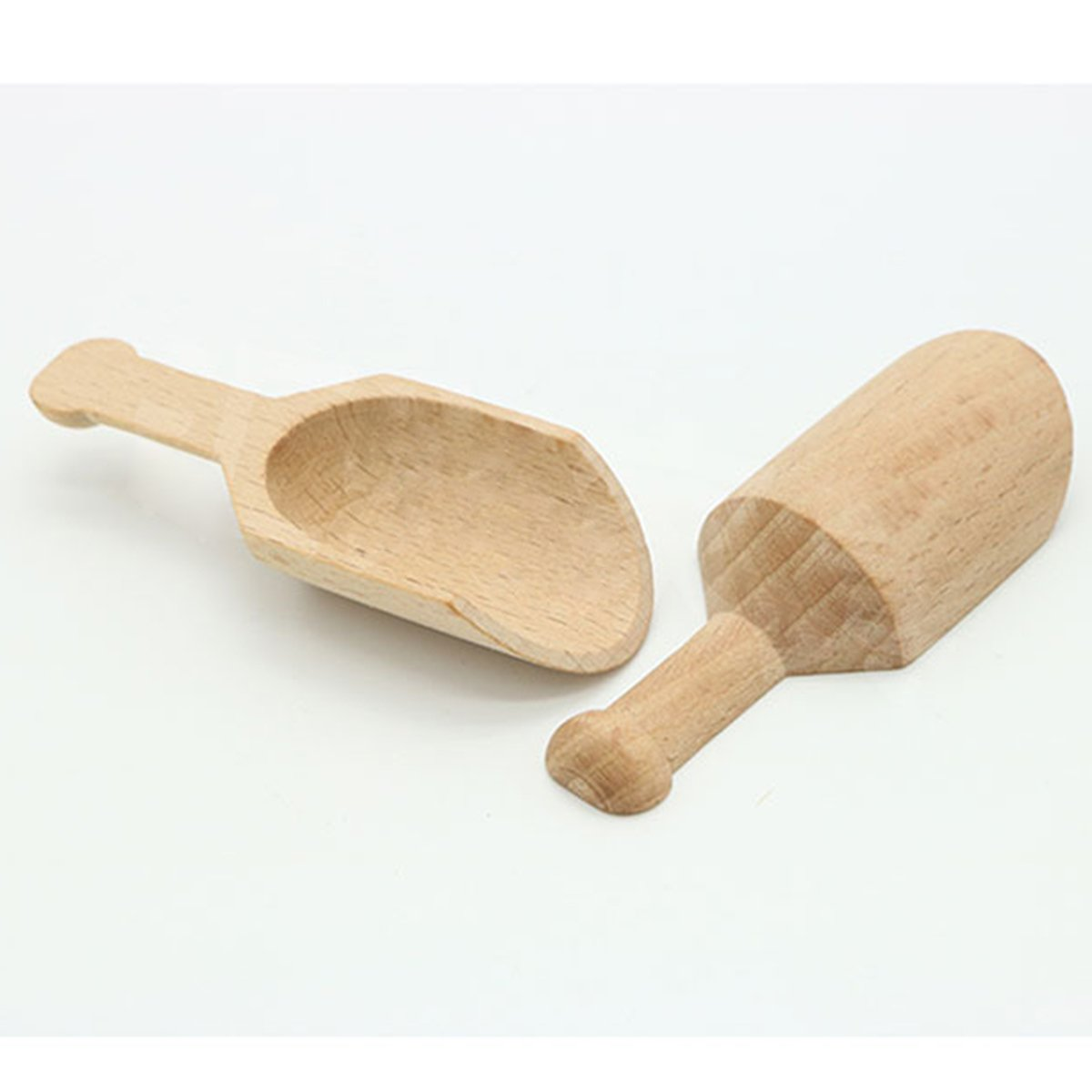 Justdolife Kitchen Wood Scoop Handcrafted Wood Candy Spoon Wood Tea Scoop Mini Wood Scoop Wood Scoop