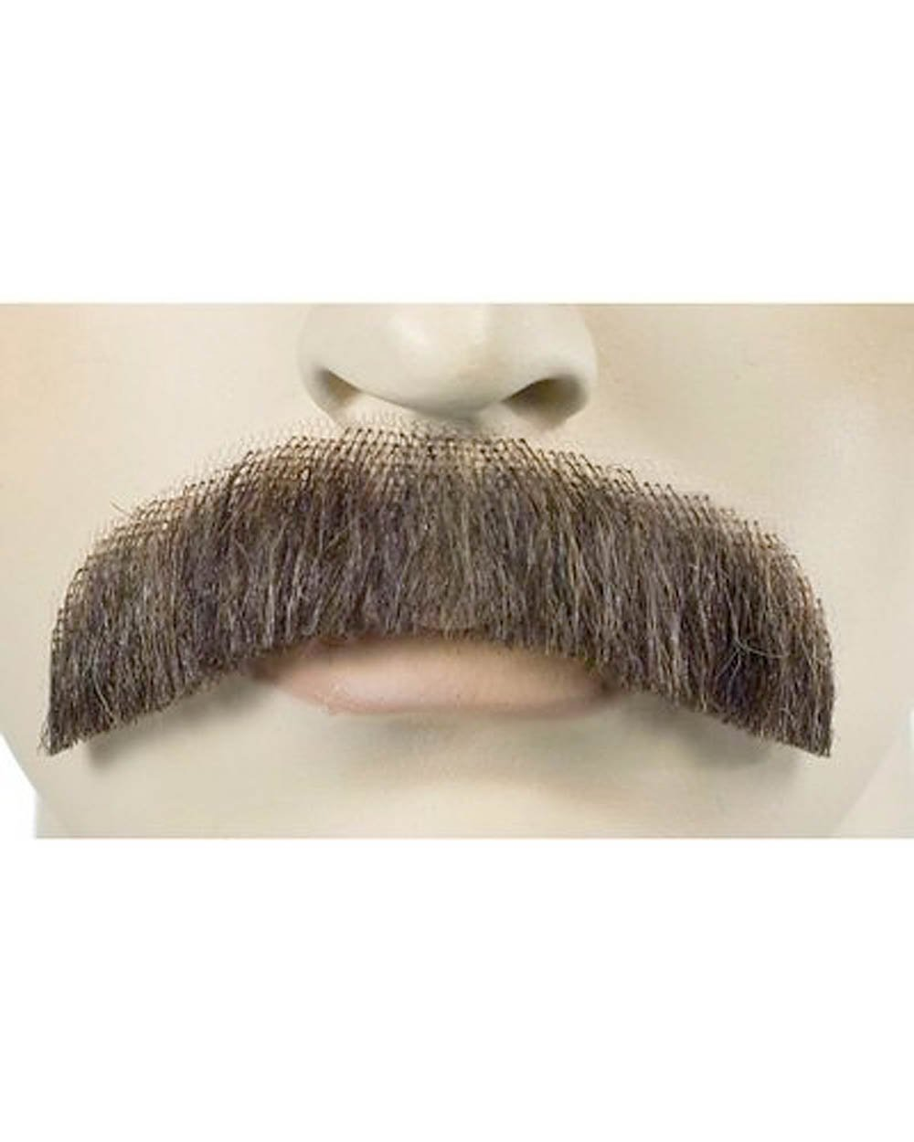 City Costume Wigs Brown Freddie Mercury Burt Reynolds Downturn Human Hair Mustache
