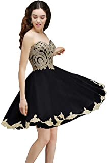 202e802d0cfed MisShow Women's Lace Applique Strapless Short Mini Cocktail Homecoming  Dresses