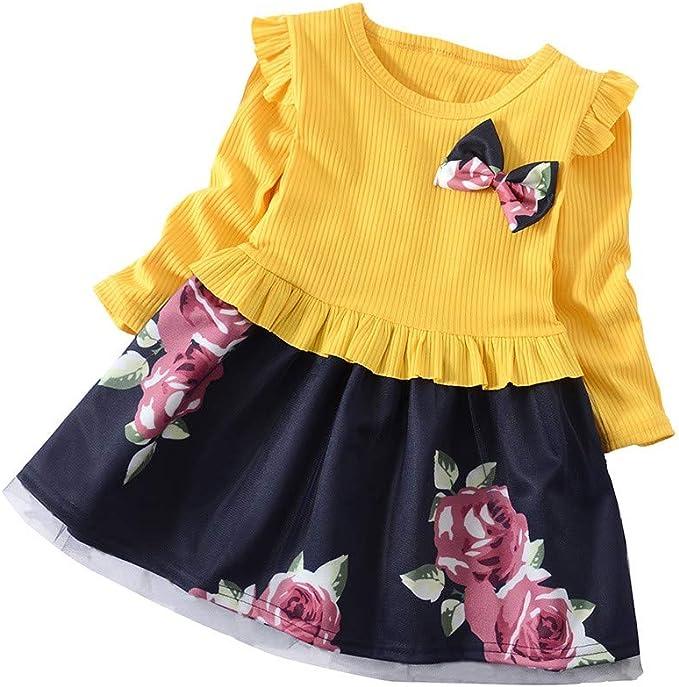 Vestido para Niña Fiesta Primavera 2019, PAOLIAN Vestido Bebe Niña ...