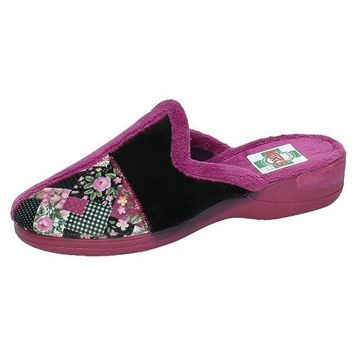 KOKIS 2206 Zapatillas Chinelas Mujer Zapatillas CASA Magenta 41: Amazon.es: Zapatos y complementos