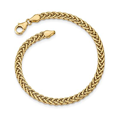 Amazon Com Ice Carats 14kt Yellow Gold Link Bracelet 7 5 Inch Fancy