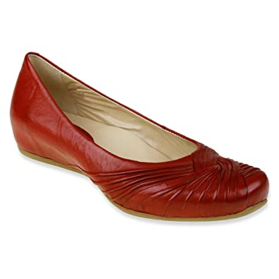 Earthies Women's Vanya Deep Red Brush Off Leather ...