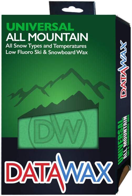 DataWax Universal All Mountain Cera de esquí, Unisex Adulto, Verde, 110g