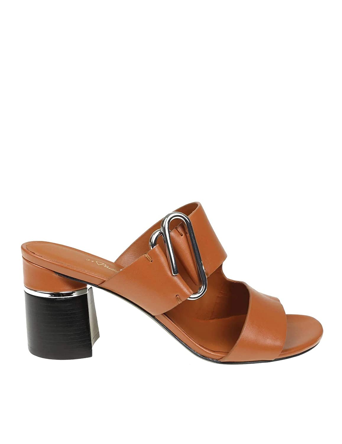- 3.1 Phillip Lim Women's SHS9T591FDRCO211 Brown Leather Sandals