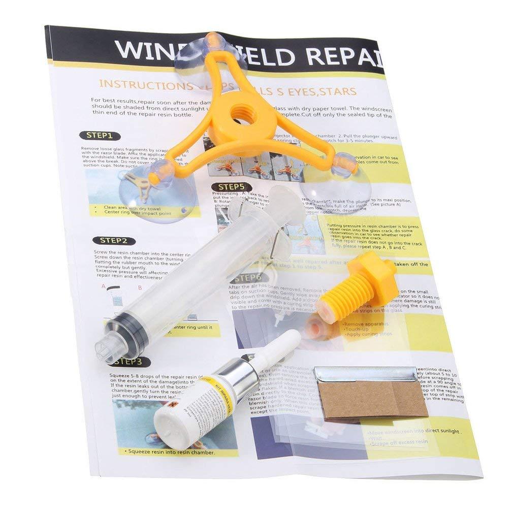 Winbang Car Repair Tools, DIY Car Wind Shield Glass Repair Kit Glass Windscreen Repair Glass Tools Large Size