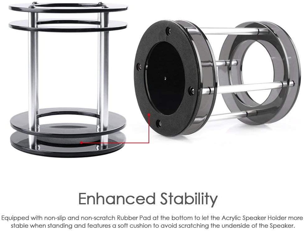 Home & Kitchen Furniture Docooler Speaker Stand Acrylic Speaker ...