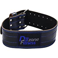 DⅡZone Fitness Genuine Leather Pro Weight Lifting Belt for Men and Women | Durable Comfortable & Adjustable with Buckle | Stabilizing Lower Back Support for Weightlifting
