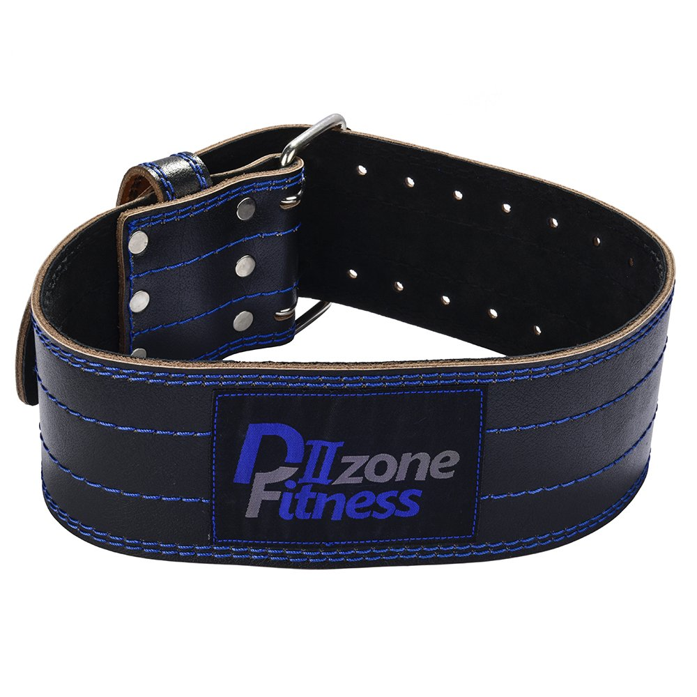 D ZONE FITNESS Genuine Leather Pro Weight Lifting Belt for Men and Women Durable Comfortable Adjustable with Buckle Stabilizing Lower Back Support for Weightlifting