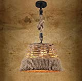 JHDD LOFT Retro Chandelierloft North American Retro Hemp Rope Bar Chandelier American Rustic Chandelier