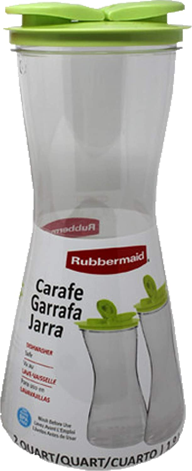 Rubbermaid Carafe with Leak-Proof Lid, 2-Quart Green