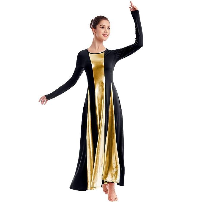 Amazon.com: OwlFay vestido metálico de baile para mujer ...