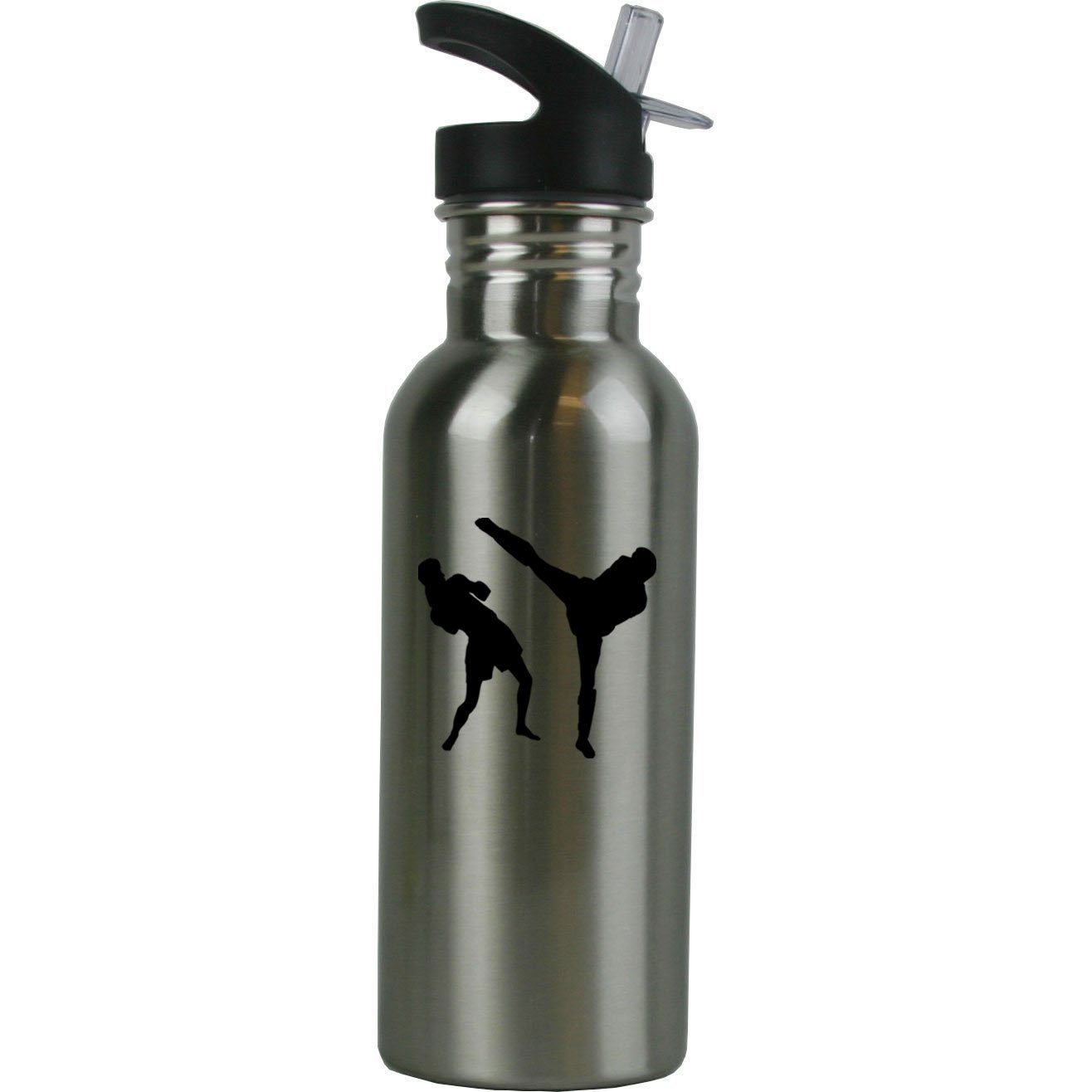 Personalized Custom Muay Thai Stainless Steel Water Bottle with Straw Top 20 Ounce Sport Water Bottle Customizable