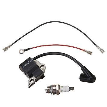 JenNiFer Bobina De Encendido WT Cables Y Bujías De Ajuste para Motosierra Stihl 017 018 Ms170 Ms180: Amazon.es: Coche y moto