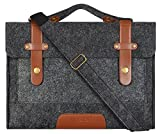 MOSISO Felt Laptop Shoulder Bag Compatible 13-13.3 inch MacBook Pro, MacBook Air, Notebook Computer, Black