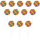 Large Swirl Lollipops 12 Ct (each) - Party Supplies