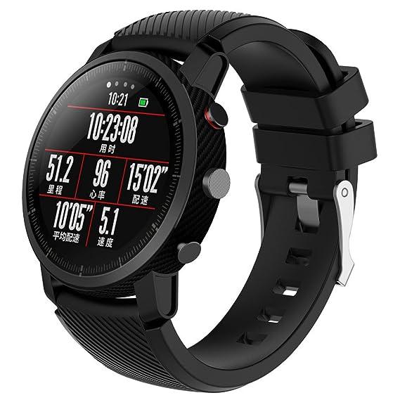 Yesmile Correa de reloj Suave de Silicona Sports Band para HUAMI Amazfit Stratos Smart Watch 2 Correas de Reloj Inteligente Pulseras de Repuesto