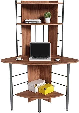 Escritorio de Oficina Creativo Simple Mesa de Esquina Hogar Ordenador Portátil Librería de Escritorio Estantería Combinada Escritorio Dormitorio Esquina Triángulo Mesa de Estudio Puesto de Trabajo: Amazon.es: Hogar