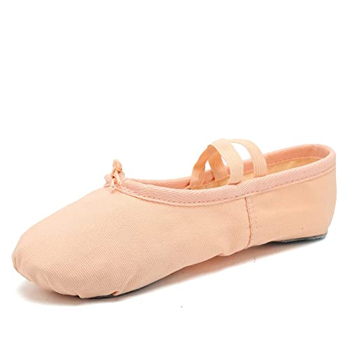 95bd9c3ce17f Image Unavailable. Image not available for. Color: EQUICK Girls'/Women's Ballet  Shoes Canvas Ballet Slippers Dance Shoes Classic Split-Sole