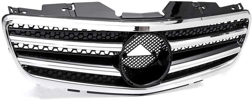 BTSDLXX Voiture Pare Chocs Gril Grille Avant Calandre Radiateur ABS pour Mercedes Benz R230 SL500 SL550 SL600 2003-2006 Sport Prise dair Maille Capot