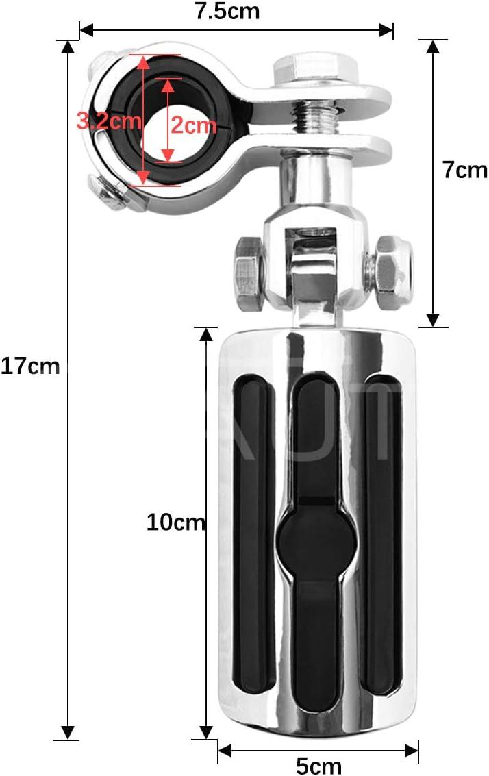 Motorcycle Footpegs Foot Rest Highway Pegs(Black) for Road King Street Glide Honda Suzuki Yamaha Kawasaki Engine Guard