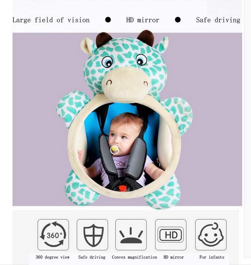 Premewish R/ücksitzspiegel mit Tier f/ür Babys Babyschale Kinder Bruchsicherer Baby Autospiegel f/ür R/ücksitz