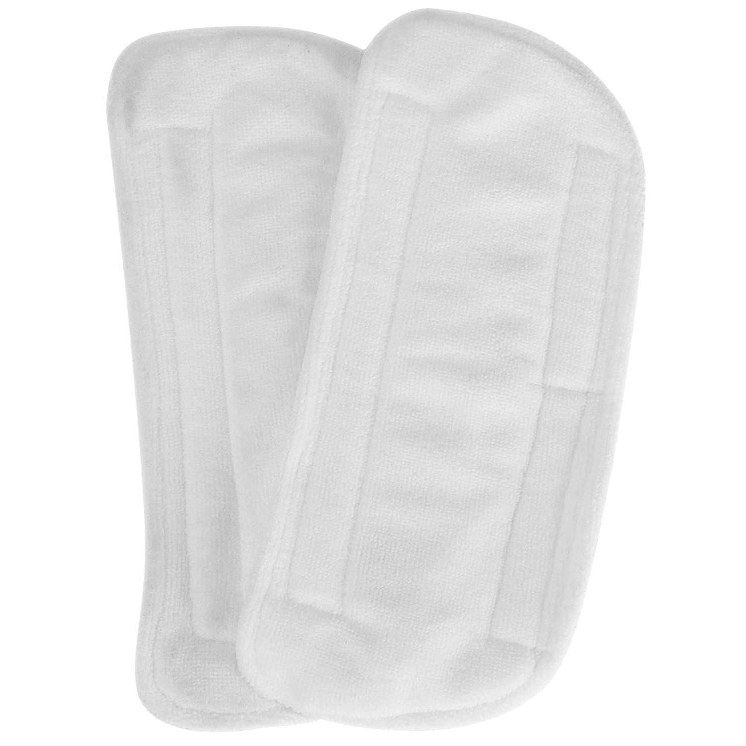 White Secura 2 Pack Microfiber Mop Pads Replacement Washable Cleaning Pads for EM-516