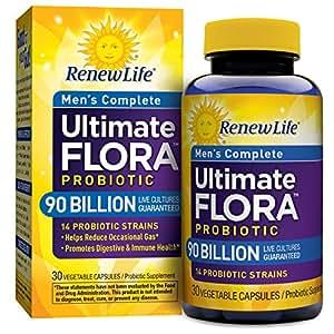 Renew Life - Ultimate Flora Probiotic Men's Complete - 90 billion - probiotics for men - daily digestive and immune health supplement - 30 vegetable capsules